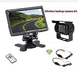 "Accfly Monitor de visión trasera de 7""TFT LCD, cámara inalámbrica impermeable con visión nocturna, para coche/bus/camión/excavadora"