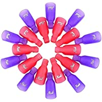 CINEEN 20x Clip de Uñas de Empapa Del Arte Del Clavo Empapa Del Clip De Cápsula De Gel UV Herramienta De Pulido Envoltura Removedor