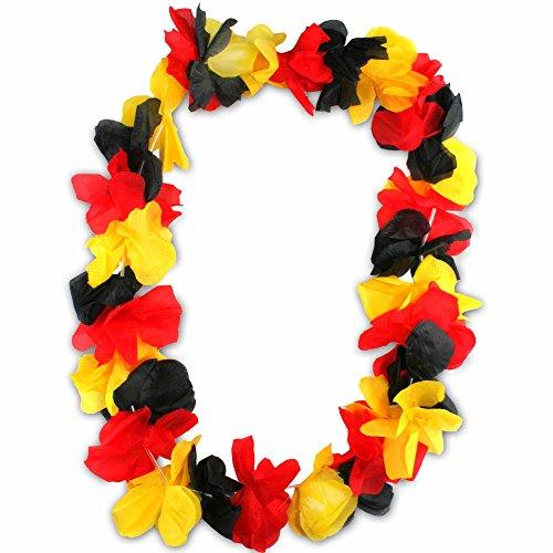 3er Pack Deutschland Hawaiiketten Blumenkette de luxe Hawaii Kette Blume Halskette Germany Weltmeister WM EM (Deutschland)