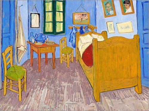 Posterlounge Lienzo 40 x 30 cm: Vincent's Bedroom