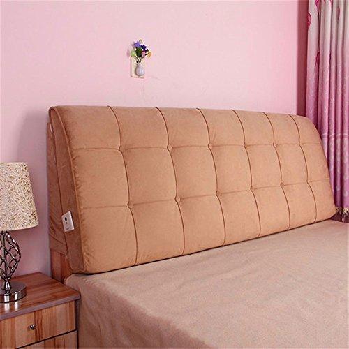Lhl-cuscini di riempimento standard letto cover cuscino cuscini testiera imbottita doppio schienale è arti tapa sfoderabile e lavabile biancheria da letto / divani / cuscini lombari ( colore : h. , dimensioni : m )
