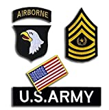 Oyster-Patch US Army Airborne Division WK2Tactical Patch Haken & Schleife, Weiß