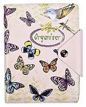 Arpan - Quaderno a righe formato A5, copertina imbottita in pelle con chiusura a bottone, 100 fogli, 80 g, colore: Crema