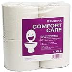 Dometic 9107200081 ComfortCare Spezielles, Schnell Lösliches Toilettenpapier für die Campingtoilette, 4 Rollen, Anzahl 4