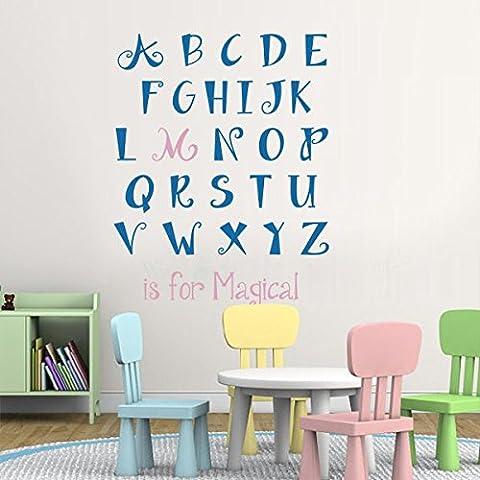 Per bambini con lettere dell'alfabeto, personalizzata con nome Decor-Adesivo da parete, motivo: lettere, decorazione da parete, motivo: parete