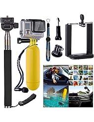 XCSOURCE® Accessoires Set 3-in1 Selfie-Sticks Monopod Standbein + Schwebeanker + Handyhalterung für Gopro Hero 2 3 3+ 4 2.25-3 inch (5.5cm-8cm) viele Handys: iPhone 6 5s 5 / Samsung Galaxy S5 S4 NOTE 4 3 / HTC M8 weitere Kameras mit Universal-1/4-Zollschraube OS234