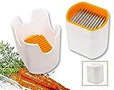 Cortadora de alimentos: Multi-cortador con 12 cuchillas como rebanadora de frutas (divisor de manzanas), cortadora de verduras y cortador de patatas (blanco)