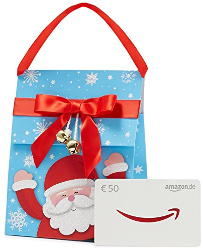 Amazon.de Geschenkkarte in Geschenktasche - 50 EUR (Weihnachtsmann) (Große Geschenk-taschen Weihnachten)