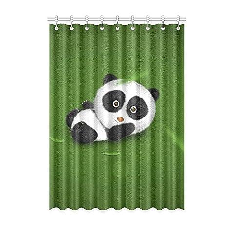 Custom Panda (1) Rideau de fenêtre 132,1cm (L) x 243,8cm (H) souple étanche Tissu Polyester, écoute, impression d'un style monobloc (9trous), Polyester, Panda(4), 52x96(inches)