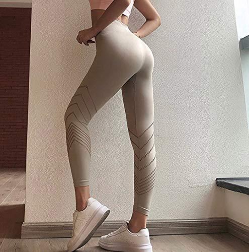 Solid Color-leggings (AITU Warme Leggings Solid Color Leggings High Waist Woman Fitness Leggings Breathable Hollow Elastic Woman Training Leggins,L)