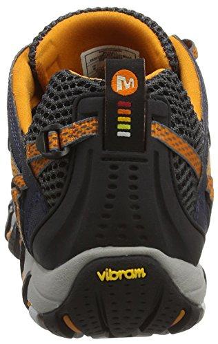Merrell Waterpro Maipo, Chaussures de Randonnée Basses Homme Navy/Orange