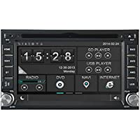 Witson Autoradio DVD Navigatore GPS video audio stereo per Hyundai Sonata 1998-2004 Getz 2002-2010 ELANTRA 2000-2006 matrice di 2004-2010 TERRACAN 2001-2007 TIBURON 2002-2009 Santa Fe 2000-2006 TUCSON 2004-2009 con ingresso AUX/radio (AM/FM) supporto SD/USB/iPod/iPhone/3 G/video/DVR/telecamera/Bluetooth vivavoce per/controllo del volante