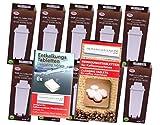 Pflegeset deLonghi: 10 x AQK-11 - Wasserfilter für DeLonghi Kaffeemaschine - ersetzt DLS C002 / DLSC002 / SER3017 / SER 3017 / 5513292811 Filterkartusche - passend für ECAM ETAM ESAM EC685 EC860 BCO Modelle + 10 Reinigungstabs + Entkalkertabs