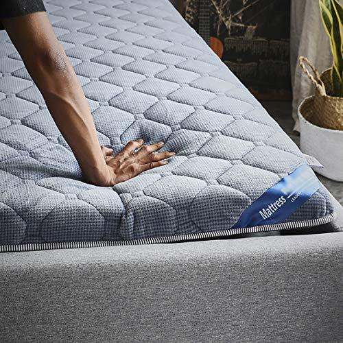 FDesign Colchón Suelo Plegable Tatami, Topper Viscoelástico Colchón Plegable japonés alfombras Almohadilla ntiescaras Colchones Dormitorio Estudiante,Blue,200 * 220cm