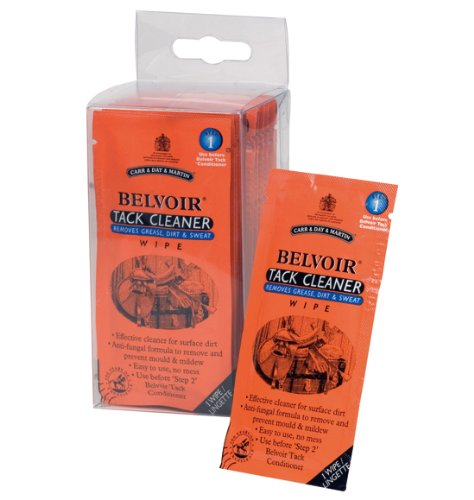 William Hunter Equestrian Belvoir Step 1 Tack Cleaner Wipes (Pack of 15 wipes) - Remove surface dirt and mud with ease 1