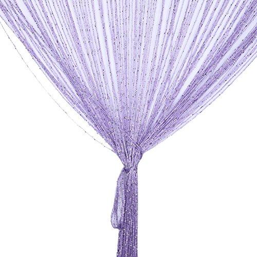 Tofree 1* 2m Saite Dew Drop Silber Vorhang Hochzeit Hintergrund Vorhang Remasuri grau Farbe 1 No Lavendel