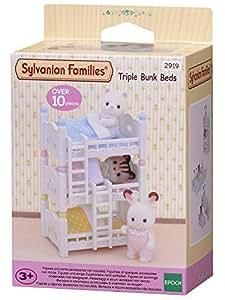 Sylvanian Families - 2919 - Lits Superposés à 3 Couchettes Bébés - Poupées et Accessoires
