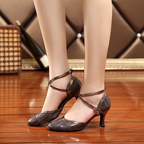 Miyoopark ,  Damen Tanzschuhe Bronze-7.5cm Heel