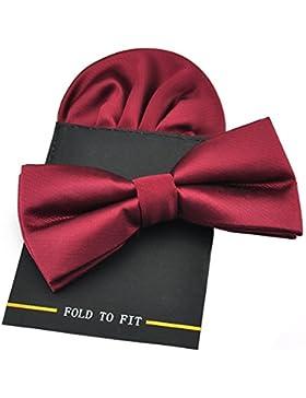 Pensée para hombre diseño con forma de seda pre-lazos de satén atados a de cristal en forma de bridas de pañuelo...