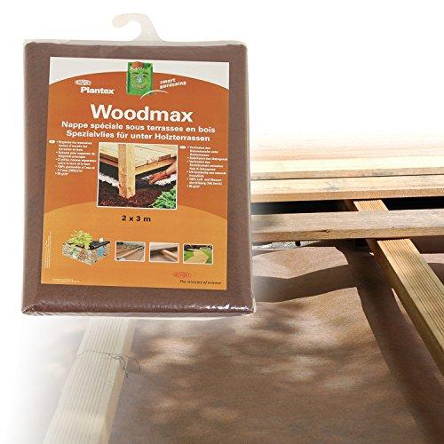 [50101025] Plantex Woodmax Unkrautsperre unter Holzterrassen | Größe: 6qm (2x3m) | Garantie: 25 Jahre | reißfest