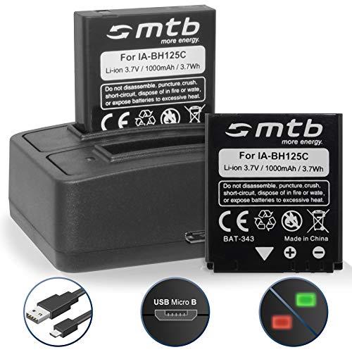 2 Akkus + Dual-Ladegerät (USB) für Ricoh Action Cam WG-M1 / Pentax MX-1, X90 / Sigma DP Merril/Samsung HMX-R10. - s. Liste
