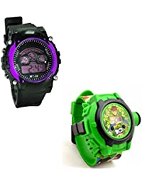 Shanti Enterprises Combo Ben 10 24 Images Projector Watch And Sports Watch Multi Color Dial For Kids - B07573HFXZ