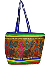 Ratnatraya Ethnic Women's Traditional Multicolor Red Blue Hand Bags For Mother, College Girls | Gift Items For...