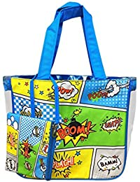 Shopaholic 2pc Set Shoulder Shopping Bag & Pouch For Kids/teenagers-Boom