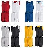 Jako Sportskanone Milano Basketball Trikot Set versch. Größen (Rot, XXXL)