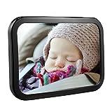 Espejo Retrovisor de Bebé para Vigilar al Bebé en el Coche,OMorc 360°Ajustable Irrompible Espejo para Silla Trasera de Bebé, para Los Asientos de Niños Orientados Hacia Atrás,100% Inastillable