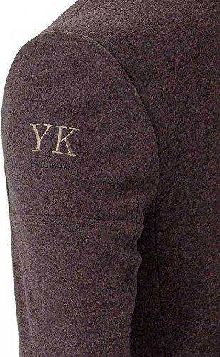 YAKE by S.O.H.O. NEW YORK Sakko Herren Slim Fit - Blazer Herren Sportlich Sheffield Dunkelbraun_003