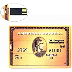 Ultra Mince Clé USB 64 Go American Express Gold Carte Flash Drive