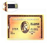 64GB Ultraslim USB-Flash-Laufwerk American Express USB-Stick 64GB Speicherstick USB Golden Kreditkarte
