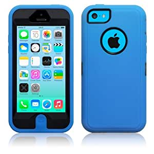 New iPhone 5C (2013) Blue Endurance Protection Case Shield Cover The Keep Talking Shop® (Blue)