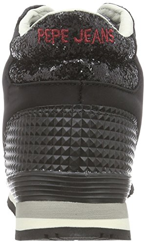 Pepe Jeans Gable Bottie Glitter, Baskets hautes femme Noir - Schwarz (999BLACK)