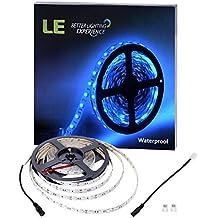 LE Tira LED Resistente al agua 5m 300 LED 5050 Tira de luz Azul