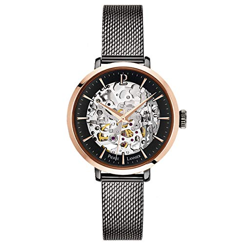 pierre lannier womens analogue automatic watch with solid stainless steel strap 314c988