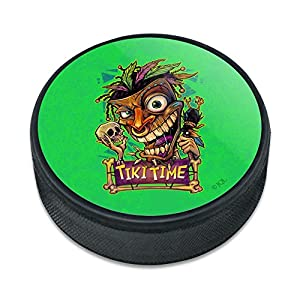 Graphics and More Tiki Time Witch Doctor tropischen Insel Eishockey Puck