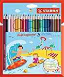 STABILO aquacolor matita colorata acquarellabile colori assortiti - Confezione da 24