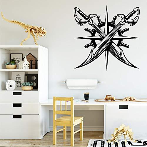 WWYJN Voyage Cool Standard Vinyl Wall Stickers Home Decoration Black L 43cm X 43cm