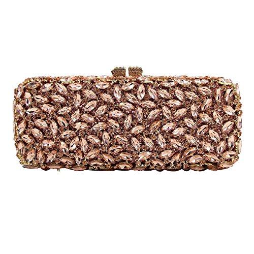 Mode Für Frauen Diamantabendtasche High-End-Diamanten Bankett Tasche Handtasche Coffee