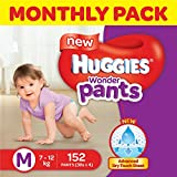 #4: Huggies Wonder Pants Medium Size Diapers Monthly Pack (152 Count)