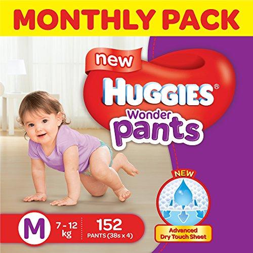 Huggies Wonder Pants Medium Size Diapers Monthly Pack (152 Count)