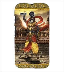 PrintDhaba Lord Krishana D-3077 Back Case Cover for MOTOROLA MOTO G (Multi-Coloured)