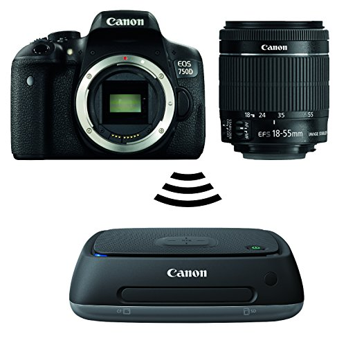 Canon EOS 750D mit EF-S (18-55mm) IS STM + Connect Station CS100 Canon Digital Camera Bundle