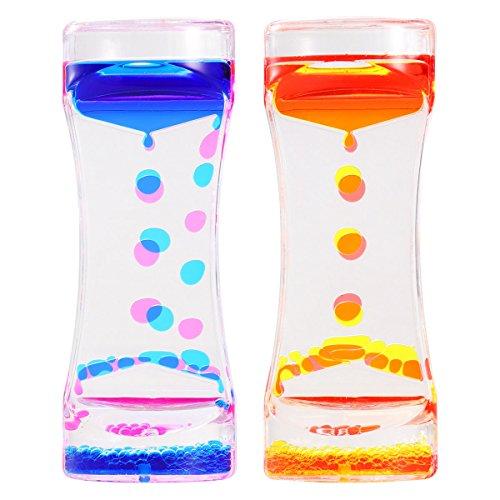 BESTOMZ 2 Stücke Liquid Timer Flüssiger Zeitmesser, Flüssigkeit Tropfenförmige Bewegung Bubbler...