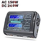 iYoung LiPo Akkuladegerät Duo Entlader Dual Channel AC 150 Watt DC 240 Watt 10A C240 Für Lipo/Lilo / Life/LiHv Smart Batterie