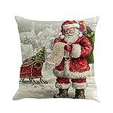 Beikoard Weihnachten Kissenbezug, Kissenbezüge 45cm*45cm Baumwolle Leinen Weihnachten Deko Kissenbezug Sofa Bett Auto Home Decor Festival Kissenhülle