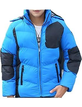 MHGAO Nueva pato blanco abajo del abrigo de invierno chaqueta de cuello de los hombres ocasionales , blue , xxl