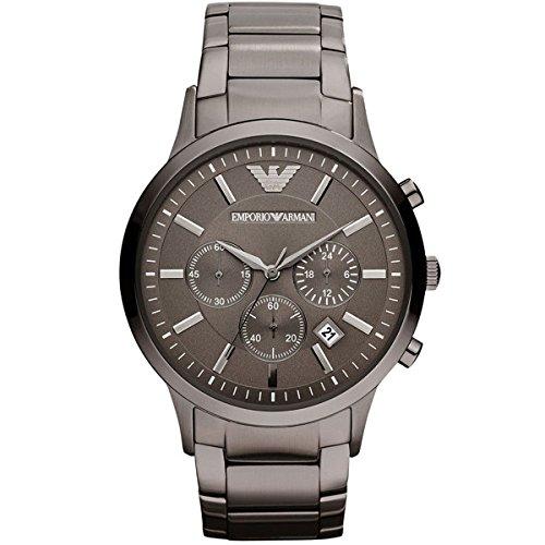 Emporio Armani Herren-Armbanduhr XL Analog Quarz Edelstahl AR2454